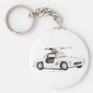 White Gullwing Keychain