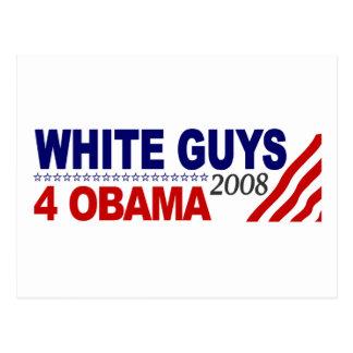 White Guys 4 Obama Post Card