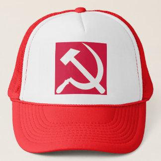 White Hammer and Sickle Trucker Hat