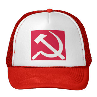 White Hammer and Sickle Trucker Hat