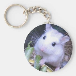 White Hamster Keychain