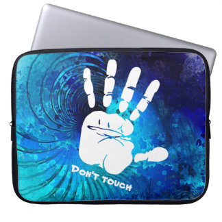 White Hand Design, Don't Touch, Laptop Sleeve 15""
