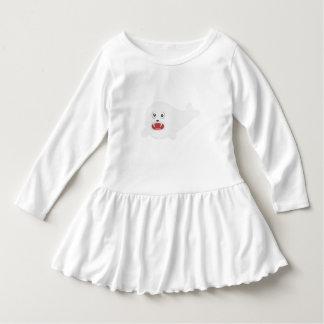 White happy Seal Zioq8 Dress