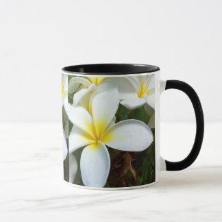 White Hawaii Plumeria Flower Mug