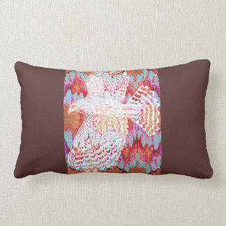 White Hawk Pattern Lumbar Pillow