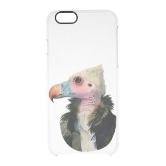 White-Headed Vulture Watercolor Painting Clear iPhone 6/6S Case