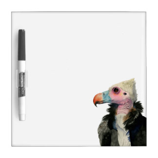 White-Headed Vulture Watercolor Painting Dry-Erase Board