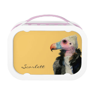 White-Headed Vulture Watercolor Painting Lunch Box