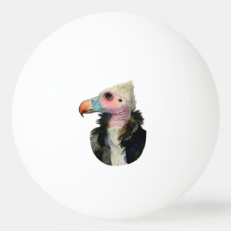 White-Headed Vulture Watercolor Painting Ping Pong Ball