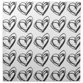 White Heart Cloth Napkins — Trendy & Elegant