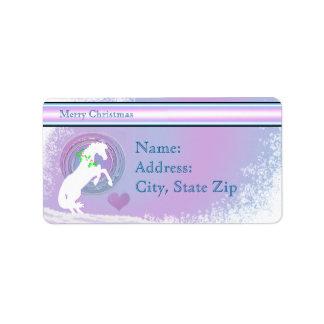 White Heart Horses V Holiday (Pink/Lav Swirl) Label