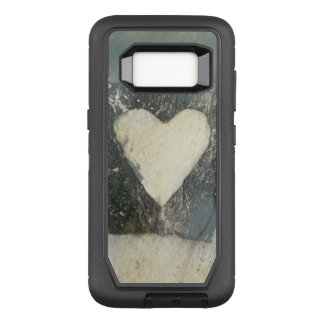 white heart otter phone case