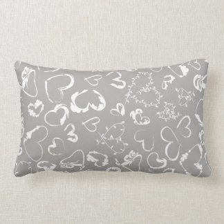 White hearts illustrations <3 lumbar pillow