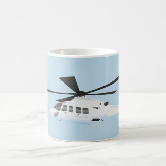 White helicopter Mug