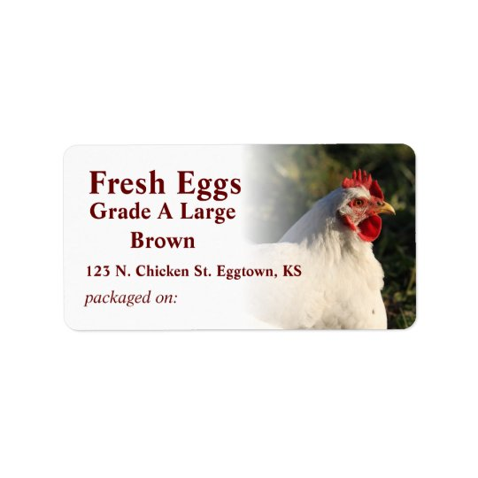 White Hen Egg Label