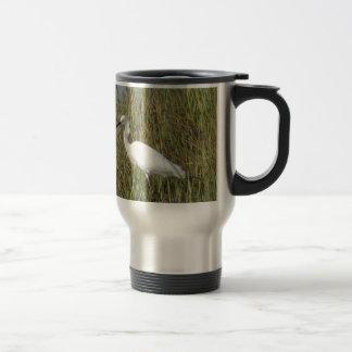 White Heron Travel Mug