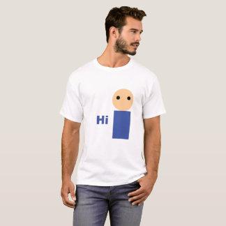 """White """"Hi"""" T-Shirt"""