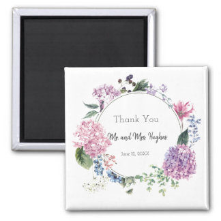 White hibiscus flower wedding thank you magnet