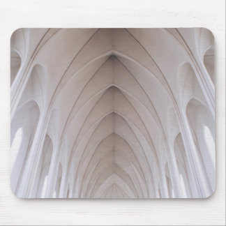 white high ceiling pillar dome mouse pad