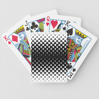 White Holes Background Bicycle Playing Cards