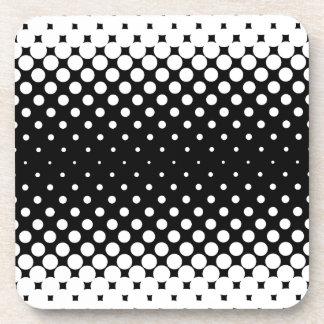 White Holes Background Coaster