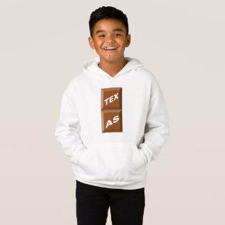 WHITE HOOD SWEATER TEXAS CHOCOLATE