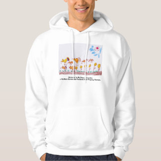 "WHITE HOODED SWEATER ""Chickens"" (PICTURE IN FRONT)"