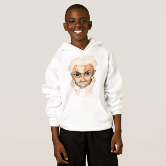White Hoodie with A little Rascal Image