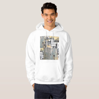 White Hoodie with Capricorn Wall Design