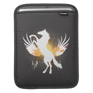white horse abstract art v1 iPod sleeve
