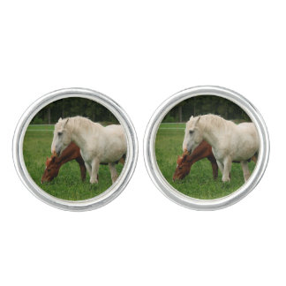 White Horse Animal Cufflinks