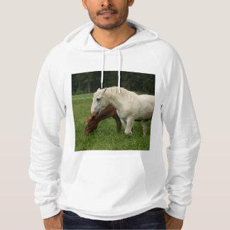White Horse Animal Hoodie