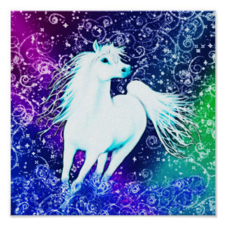 White Horse Arabian Myth Poster