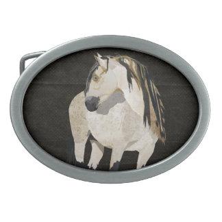 White Horse Belt Buckle