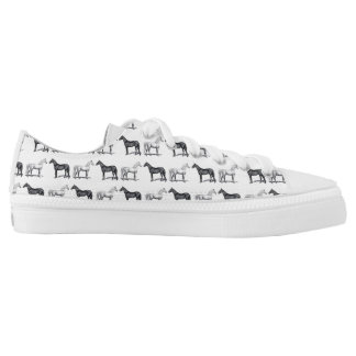 White Horse/Black Horse Low-Top Sneakers