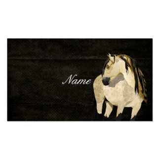 White Horse Black Retro Business Card
