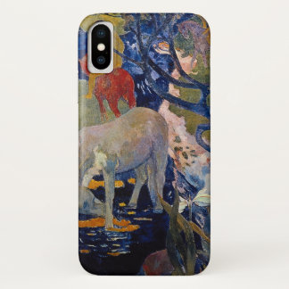 White Horse by Gauguin, Vintage Impressionism Art Case-Mate iPhone Case