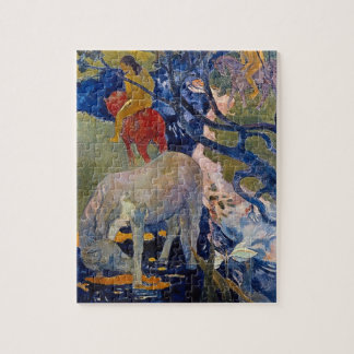 White Horse by Gauguin, Vintage Impressionism Art Jigsaw Puzzle