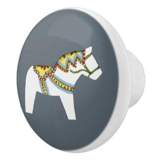 White Horse Ceramic Knob