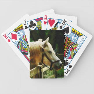 White Horse Closeup Bicycle Playing Cards