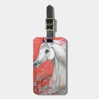 White Horse Design Luggage Tag