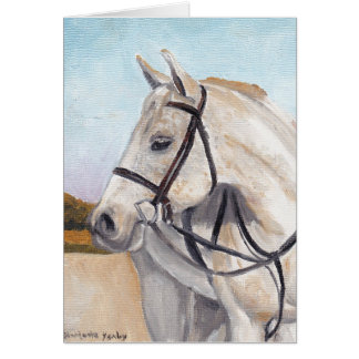 White Horse Equine Art Note Card