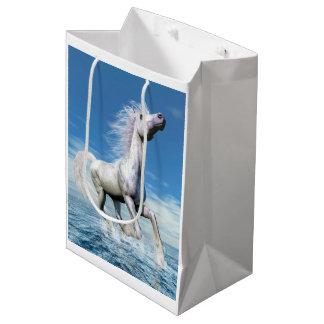 White horse freedom - 3D render Medium Gift Bag
