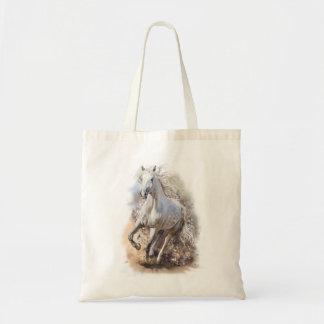 White Horse Gallop Budget Tote Bag