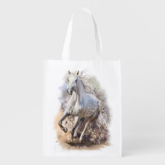 White Horse Gallop Reusable Grocery Bag