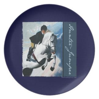 White Horse Head Dinner Plates