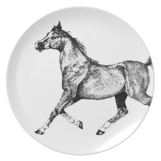 White Horse Head Party Plates