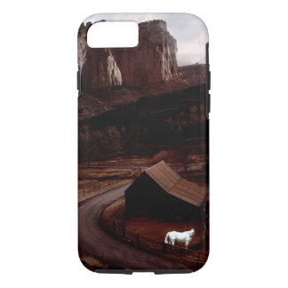 White Horse in a Painted Canyon  Phone Case