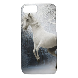 White horse in a snowy forest Iphone 8/7 case