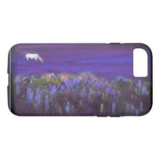 White Horse in a Violet Dream Phone Case